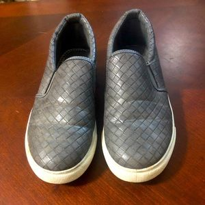 Pierre dumas grey slip on shoes size 8